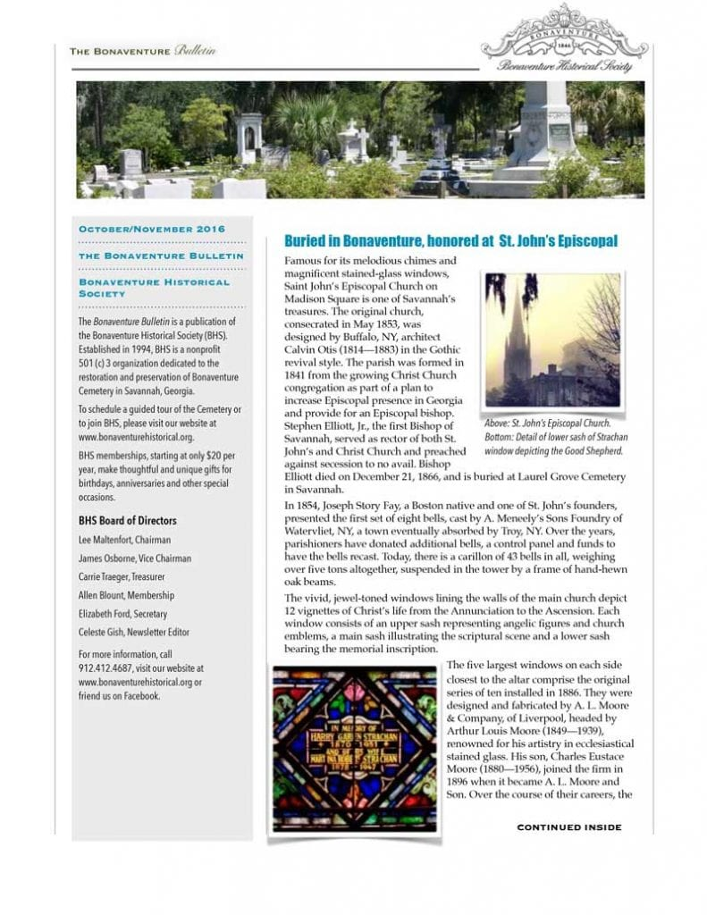 Bonaventure Historical Society Newsletter